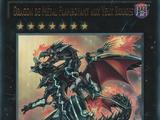 Dragon de Métal Flamboyant aux Yeux Rouges