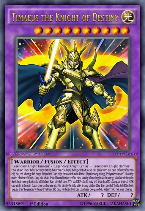 Timaeus the Knight of Destiny