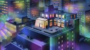 Ep016 View of Aoi Zaizen's apartment at night