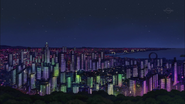 Ep003 View of Den City at night
