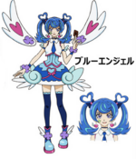 Full Body Blue Angel