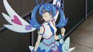 Blue angel angry