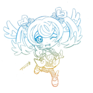 Chibi Blue Angel drawn by Tomonaga