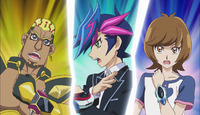 Ep032 Yusaku, Aoi and Go entering link vrains