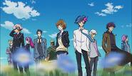 Op. 3 Yusaku, Aoi, Emma, Ryoken, Shoichi, Takeru, Go Onizuka and Spectre