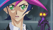 Ep022 Yusaku hearing that Go knows the identity of Playmaker