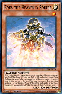 YuGiOh! TCG karta: Edea the Heavenly Squire