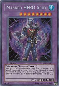 YuGiOh! TCG karta: Masked HERO Acid