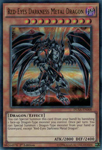YuGiOh! TCG karta: Red-Eyes Darkness Metal Dragon