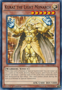 YuGiOh! TCG karta: Kuraz the Light Monarch