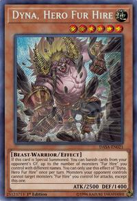 YuGiOh! TCG karta: Dyna, Hero Fur Hire