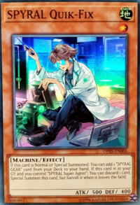 YuGiOh! TCG karta: SPYRAL Quik-Fix