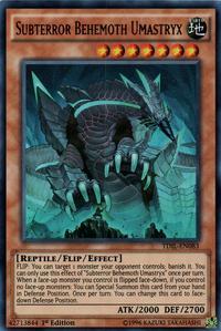 YuGiOh! TCG karta: Subterror Behemoth Umastryx