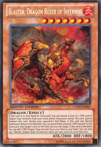 YuGiOh! TCG karta: Blaster, Dragon Ruler of Infernos