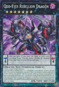 YuGiOh! TCG karta: Odd-Eyes Rebellion Dragon