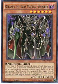 YuGiOh! TCG karta: Breaker the Dark Magical Warrior