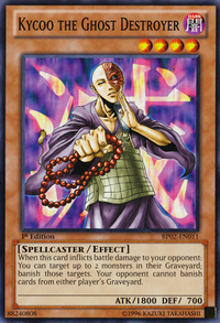 YuGiOh! TCG karta: Kycoo the Ghost Destroyer