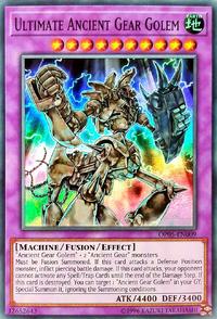 YuGiOh! TCG karta: Ultimate Ancient Gear Golem