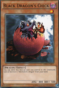 YuGiOh! TCG karta: Black Dragons Chick