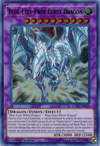 YuGiOh! TCG karta: Blue-Eyes Twin Burst Dragon