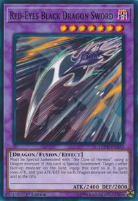 YuGiOh! TCG karta: Red-Eyes Black Dragon Sword