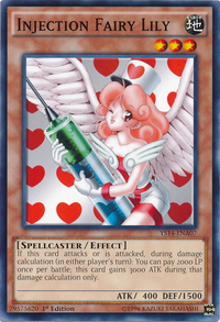 YuGiOh! TCG karta: Injection Fairy Lily
