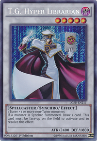 YuGiOh! TCG karta: T.G. Hyper Librarian