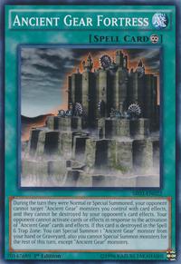 YuGiOh! TCG karta: Ancient Gear Fortress
