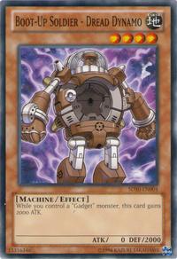 YuGiOh! TCG karta: Boot-Up Soldier - Dread Dynamo