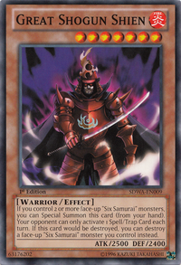 YuGiOh! TCG karta: Great Shogun Shien