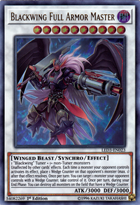 YuGiOh! TCG karta: Blackwing Full Armor Master