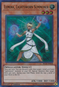 YuGiOh! TCG karta: Lumina, Lightsworn Summoner