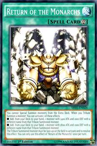 YuGiOh! TCG karta: Return of the Monarchs