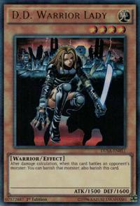 YuGiOh! TCG karta: D.D. Warrior Lady