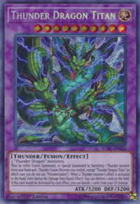 YuGiOh! TCG karta: Thunder Dragon Titan
