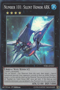 YuGiOh! TCG karta: Number 101: Silent Honor ARK