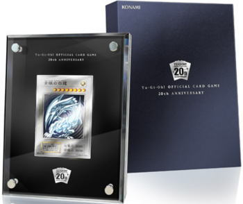 """Blue-Eyes White Dragon"" 20th Anniversary Silver Edition"