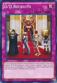 YuGiOh! TCG karta: D/D Recruits