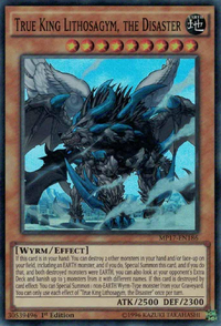YuGiOh! TCG karta: True King Lithosagym, the Disaster