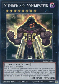 YuGiOh! TCG karta: Number 22: Zombiestein