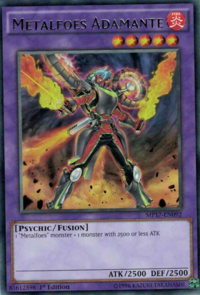 YuGiOh! TCG karta: Metalfoes Adamante