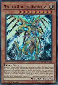 YuGiOh! TCG karta: Metaltron XII, the True Dracombatant