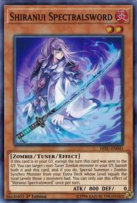 YuGiOh! TCG karta: Shiranui Spectralsword