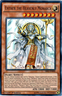 YuGiOh! TCG karta: Ehther the Heavenly Monarch
