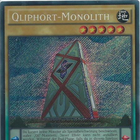 Carte Yu Gi Oh MONOLITHE QLIPHORT PEVO-FR058