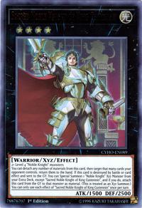 YuGiOh! TCG karta: Sacred Noble Knight of King Custennin