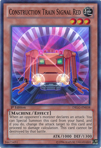 YuGiOh! TCG karta: Construction Train Signal Red