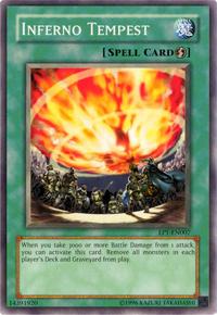 YuGiOh! TCG karta: Inferno Tempest