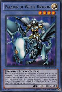 YuGiOh! TCG karta: Paladin of White Dragon