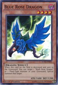 YuGiOh! TCG karta: Blue Rose Dragon